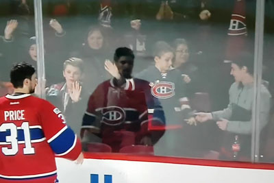 Goaltender Uses His Eyes To Right A Wrong Done To A Young Fan
