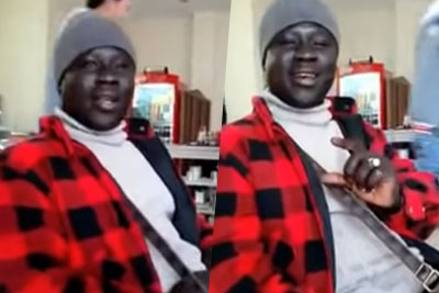 African Man Sings Songs With Female Voice. What A Talented Singer!