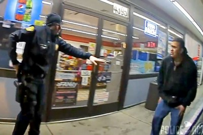 Bodycam Footage Of Police Fatally Shooting Man With His Own Gun