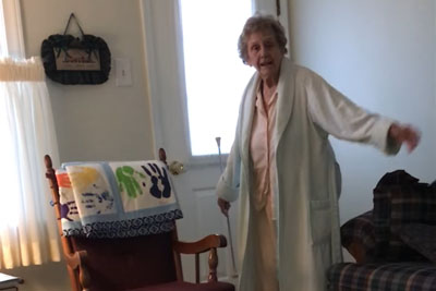 87-Year-Old Grandma Remembers The Good Old Days By Twirling Her Baton