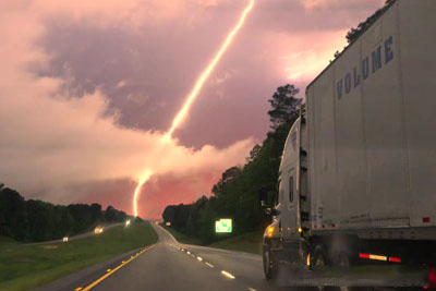 Colorado Driver Captures Spectacular Lightning Show On His Way Home