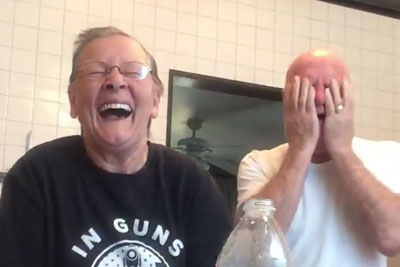 Try Not To Laugh When Grandma Pranks Her Husband With This Hilarious Prank