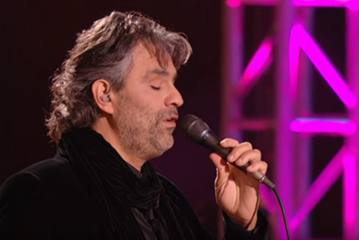 When Andrea Bocelli Sings Elvis Presley's Song, Tears Fall Down Everyone's Face