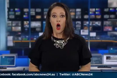 EPIC: Newsreader Is Caught Daydreaming And Doesn't Realise She's On Camera