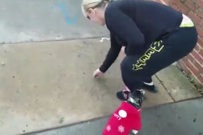 Woman Forced To Pick Up Her Dog's Poop Barehanded By Angry Homeowner