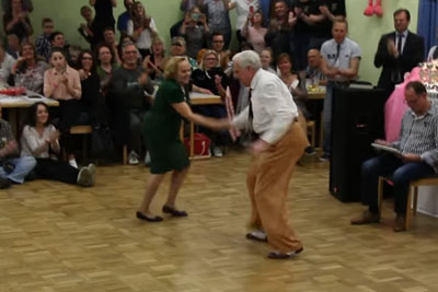 Amazing Performance By World's Best Elderly Swing Dance Couple