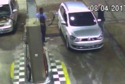 Horrific Moment Car Blows Up At Petrol Pump