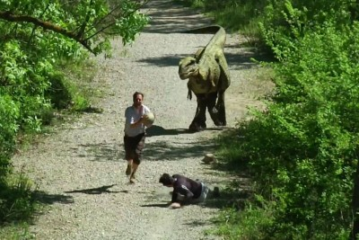 Remi Gaillard Steals A Dinosaur's Egg, Runner Gets A Hilarious Lesson