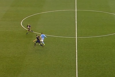 New York City Soccer Player David Villa Scores An Incredible Goal From 50 Yards Away