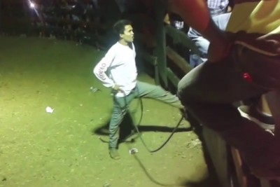 Angry Bull Delivers Some Justice To A Rodeo Guy In Arena