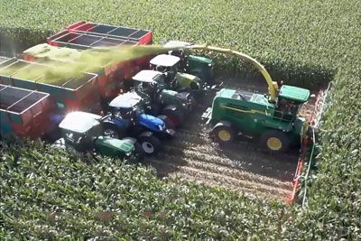 Big Harvesting Machines Doing The Work Is So Satisfying To Watch