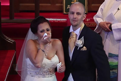 Groom Interrupts Vows And Tells Bride To Turn Around, Then This Scene Makes Her Burst In Tears