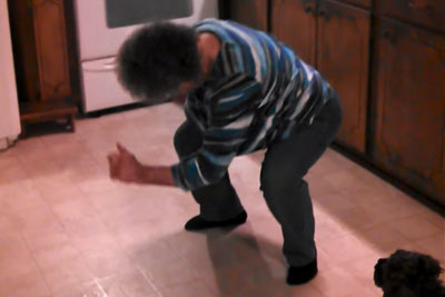 Grandma's Cooking Dinner, Suddenly Starts Dancing When Her Song Starts To Play
