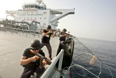 Dramatic Footage Shows Ship's Private Security Guards Take Care Of Somali Pirates