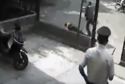 Scooter Crash In A Wall