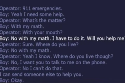 A Boy Called 911 To Get Help With Math