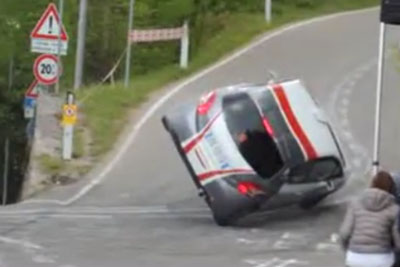 This Rally Driver Is So Lucky To Land His Car On Four Wheels Again