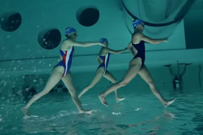 We Did Not Expect Synchronized Swimming Filmed Upside Down To Look This Cool