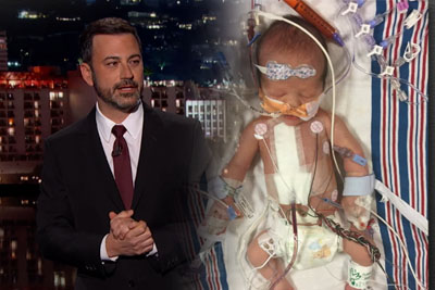 Tearful Jimmy Kimmel Reveals Newborn Son Had Open Heart Surgery