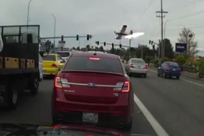 Shocking Dashcam Footage Shows Plane Crash In Mukilteo, Washington