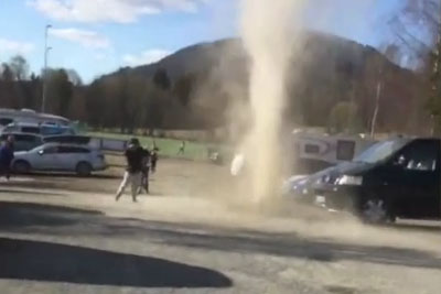 Mini Tornado Causes Havoc At A Park In Norway