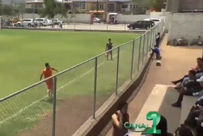 Footballer Goes Into Crazy Mode Celebration After Scoring A Goal