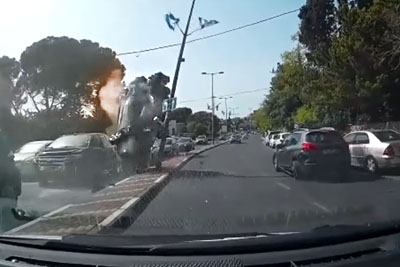 Car Flips And Crashes During Overtaking, Gets Covered In Fire