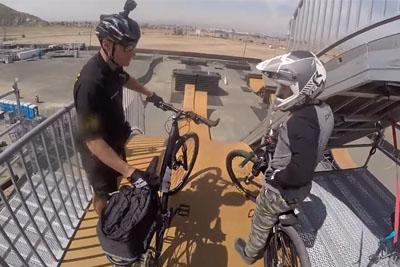 Biker Cop Gets Crazy At The Nitro Mega Ramp