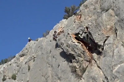 Footage Shows Rock Fall In New Climbing Crag In Chulilla
