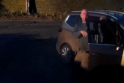 He Didn't Let Truck Pass Through, Then His Car Showed More Sense Than Him