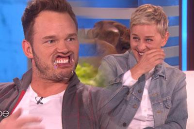 Chris Pratt Plays 'Speak Out' On The Ellen Show, Makes Ellen Cry Out Of Laughter