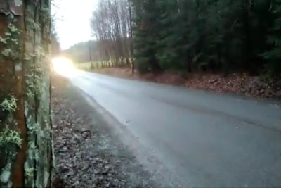 Rally Driver Passes Fans With Incredible Speed In His Porsche GT3