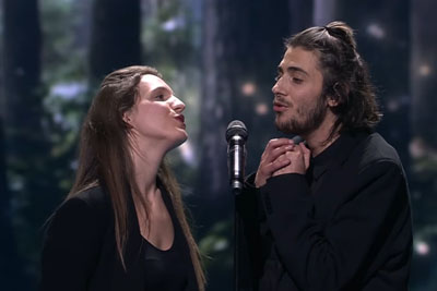 Salvador Sobral Steps On Stage After Eurovision Victory, Sings A Song Together With His Sister