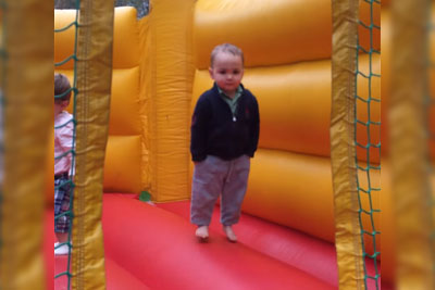 You Will Never Be As Cool As This 2 Year Old Boy In A Bounce House