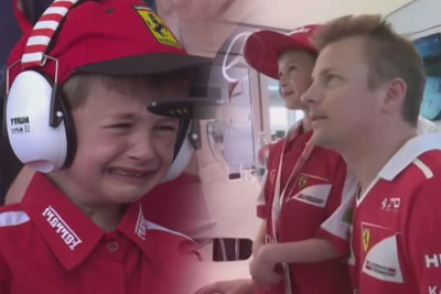 Young Kimi Raikkonen Fan Left Crying After He Crashes Out, Then He Gets To Meet His Hero