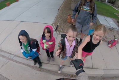 Motorcyclist Drops His Wallet, Then Group Of Kids Make His Day