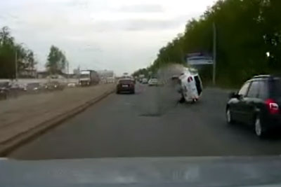 You Won't Believe What Was The Reason This Car Overturned