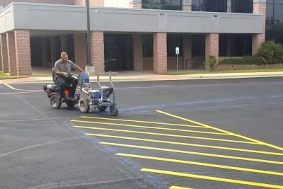 Enjoy This Parking Lot Stripe Painter Being Really Dang Good At His Job