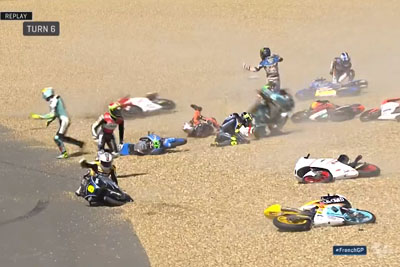 WATCH: Nearly Half The Moto3 Riders Crashed In The Same Turn