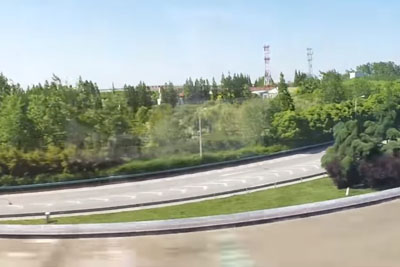 Don't Blink Your Eye Or You Might Miss The Moment When Two Maglev Trains Pass Each Other