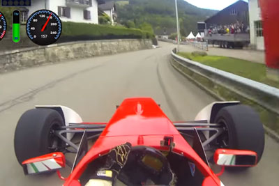 Crazy Onboard Video Of Hillclimb In Formula Race Car At Saint-Ursanne