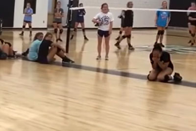 Girl Recives Best Surprise During Volleyball Practice, She Breaks Down In Tears