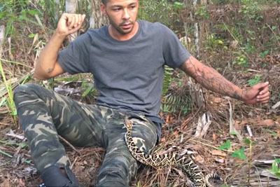 SHOCKING: He Sat Down In The Woods Then This Venomous Rattlesnake Shocked Him