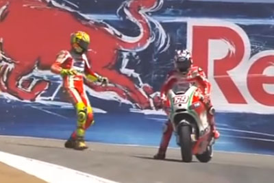 Historic Moment When Valentino Rossi Got A Lift From Nicky Hayden Back In 2012