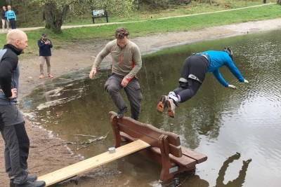 Guys Prank Their Friend With Staged Bungee Jump And It's Hilarious