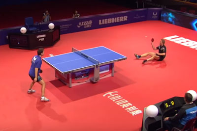 This Is The Most Outrageous Table Tennis Match You Will Ever See