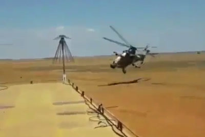 Low Pass By South African Air Force Rooivalk Attack Helicopter Is Just Crazy