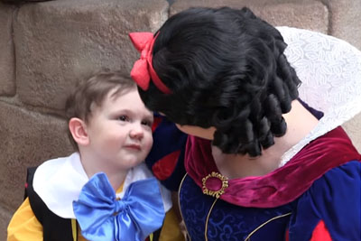 Autistic Boy Innocently Stares At At Snow White. Princess's Response Caught On Tape