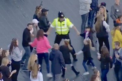 Dancing Policeman Steals The Hearts Of Everyone At Manchester Benefit Gig