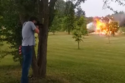 Man Almost Killed After Shooting Fridge Filled With Tannerite